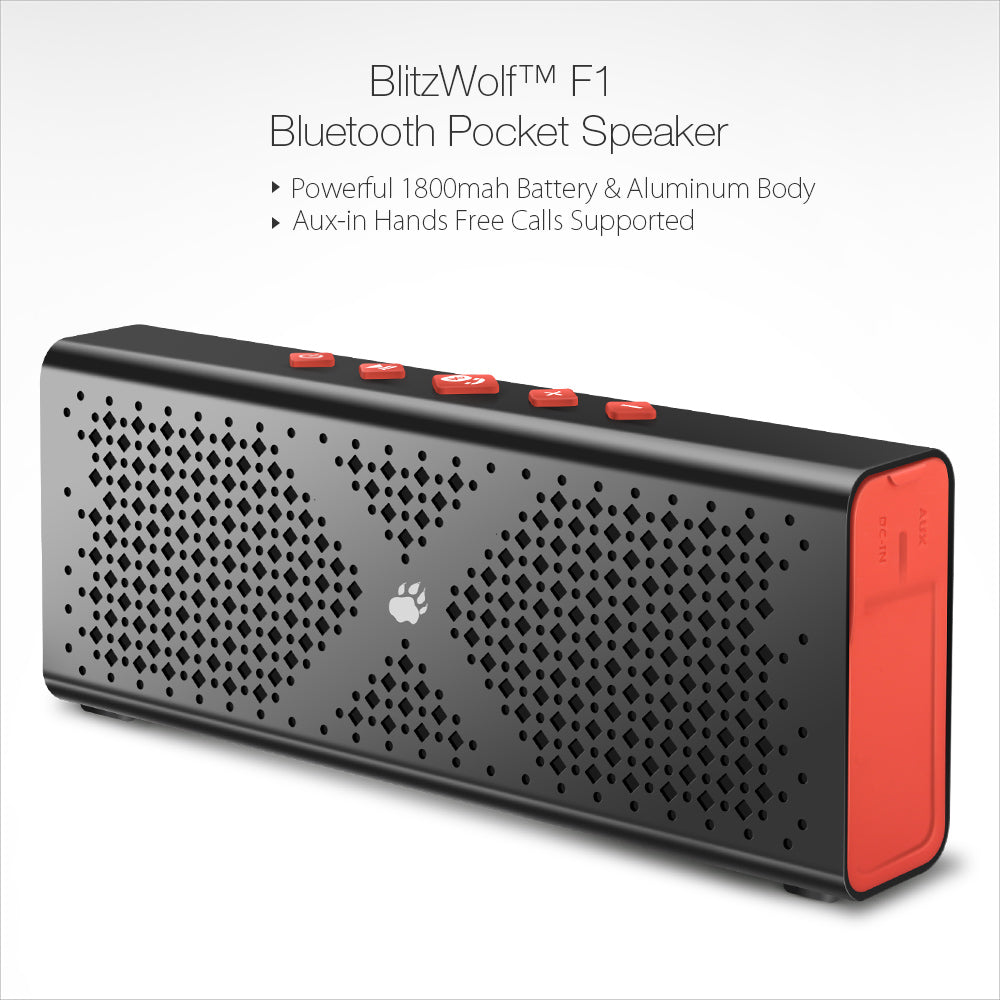 BlitzWolf® F1 Bluetooth 4.0 Wireless 1800mah Aux-in Hands Free Speaker