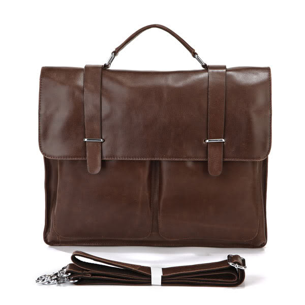 Strasbourg Leather Laptop Briefcase