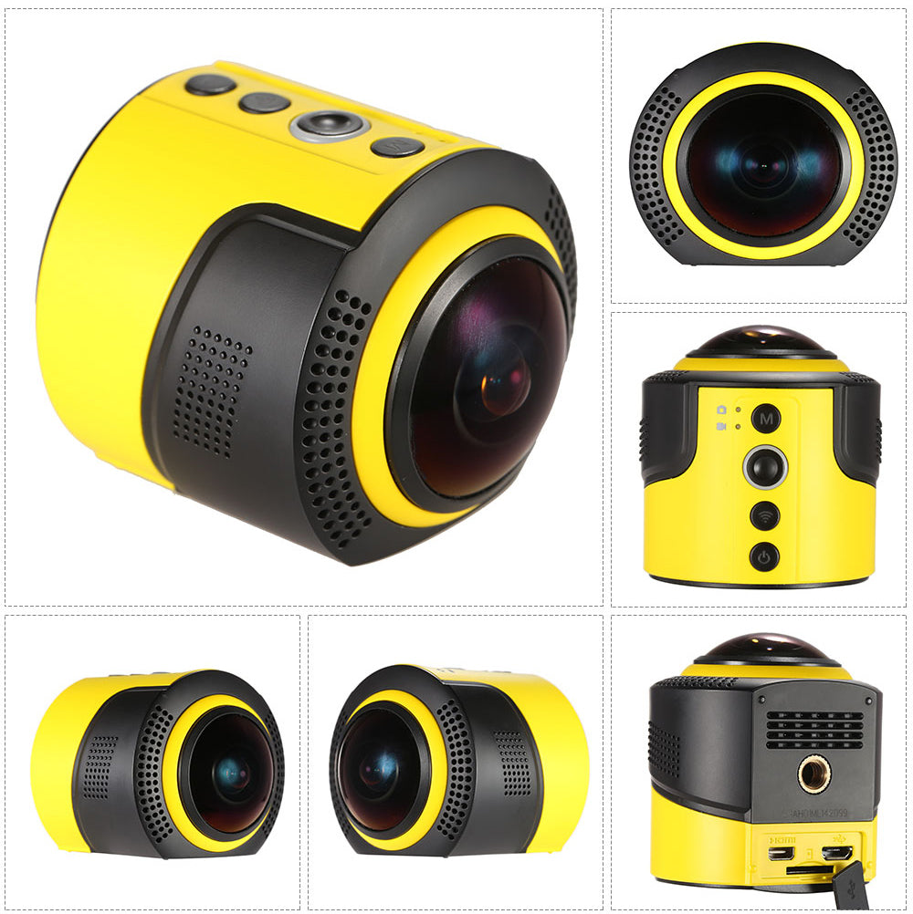 DETU OEM WiFi 360 Degree Panoramic Sports Action Camera 8 MP and 1080p HD
