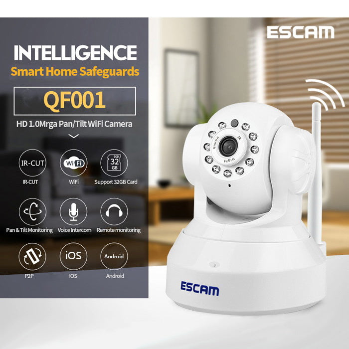 ESCAM QF001 WiFi 720P IP Camera