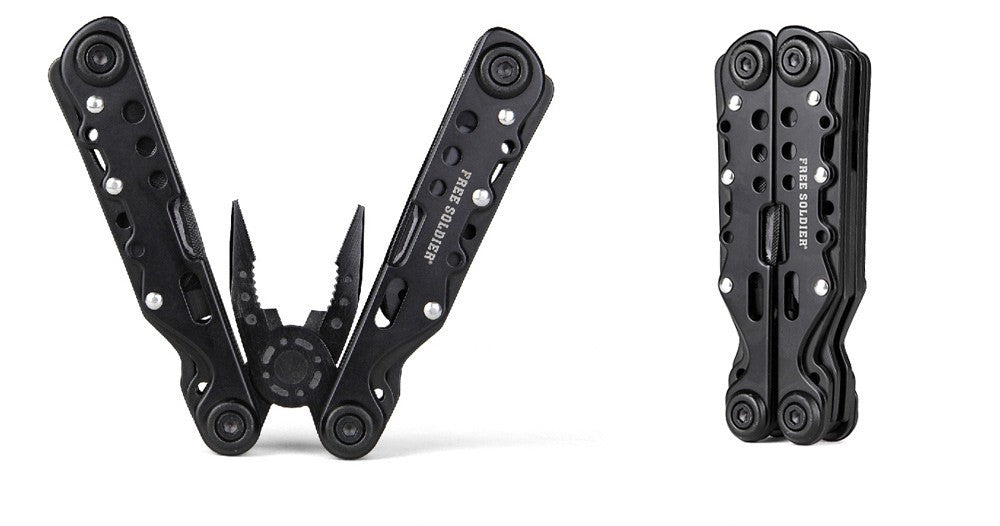 Free Soldier Survival Black Stainless Steel Multi Tool