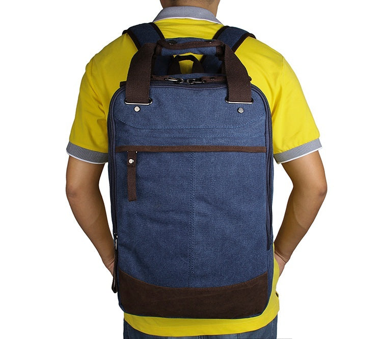 Horsford Large Cotton Canvas Backpack - Denim Blue
