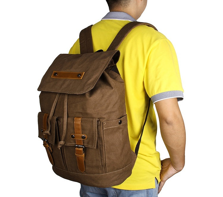 Metropolitan Canvas Backpack - Brown