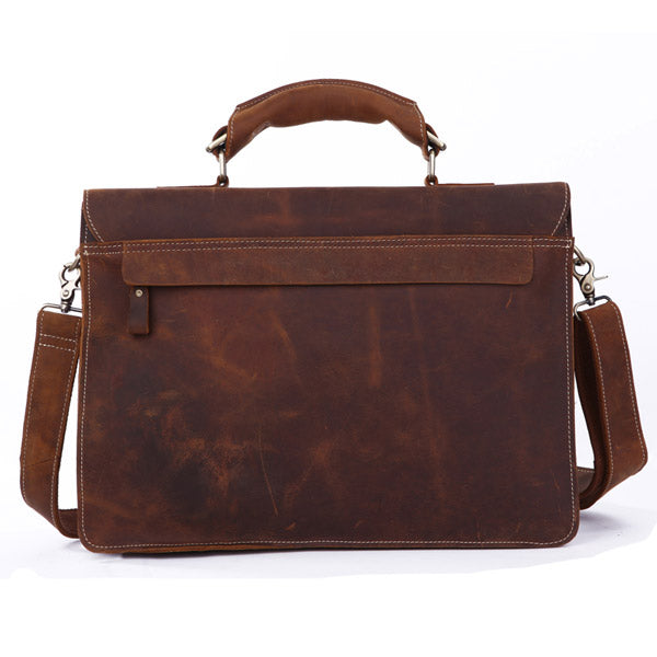 Italian Leather Men's Briefcase