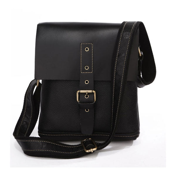 Unisex Genuine Leather Messenger Bag