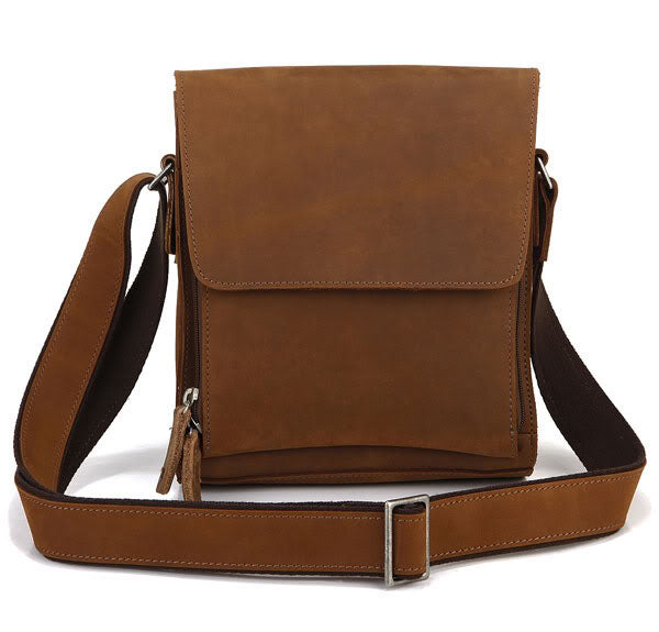 'Cordelia' Genuine Leather Messenger Bag