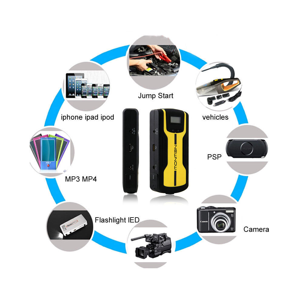 Multi-Function Jump Starter Emergency Power - 12V Car Jump Starter Mobile Power Bank