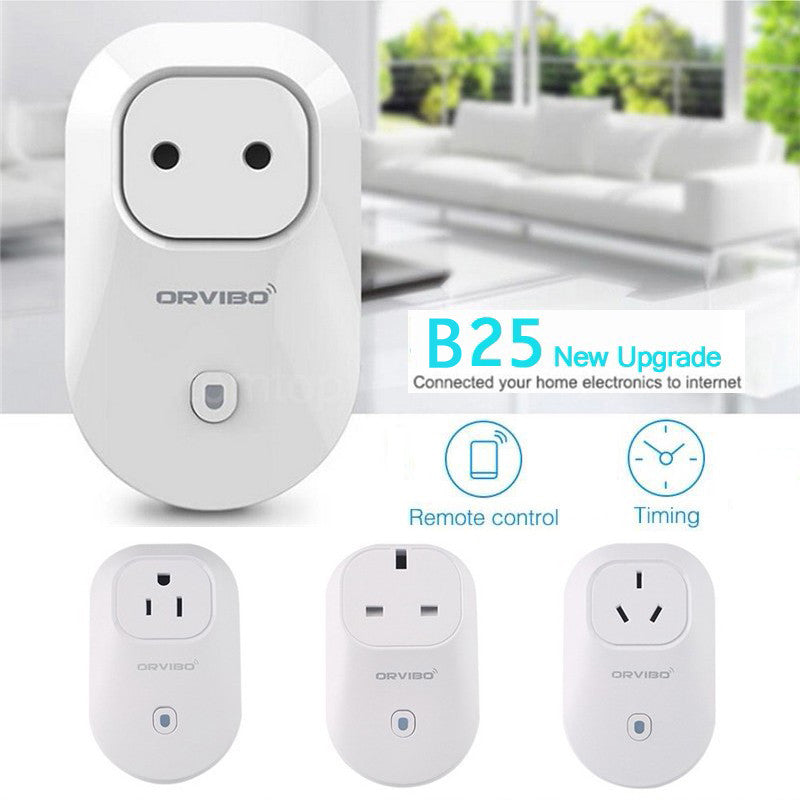 New ORVIBO HomeMate-B25U Wi-Fi Smart Remote Control Timing Timer Socket Power Plug Switch