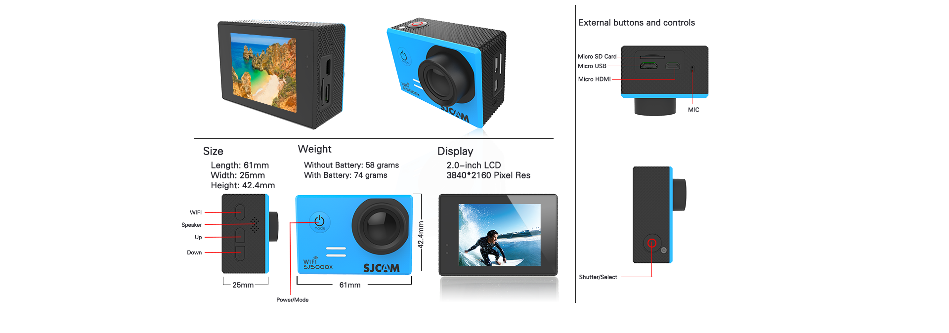 SJcam SJ5000X WIFI ELITE Action Camera