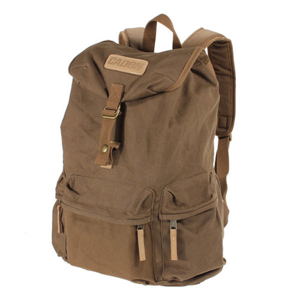 Canvas DSLR Camera Case Bag Laptop Backpack Travel Hiking Sport Rucksack