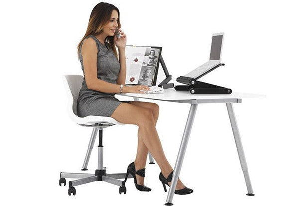 Folding Stand Laptop Notebook Reading Table with Mouse Holder