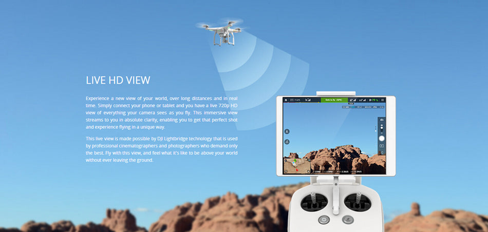 DJI Phantom 3 Drone Professional With 4K Camera & Advanced 1080p HD RTF
