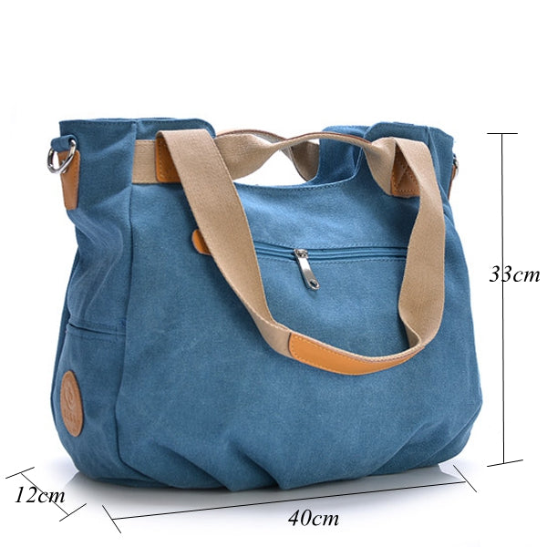 Canvas Casual Women Messenger Bag Handbag Shoulder Bag