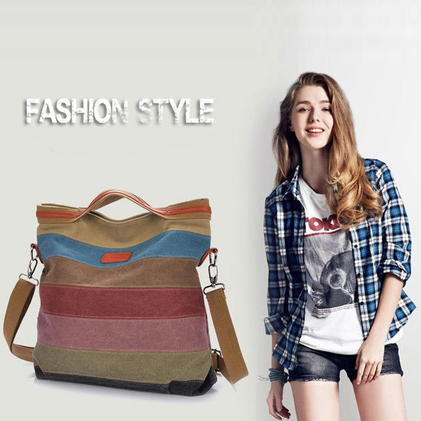 Canvas Vintage Handbag Crossbody Tote Bag