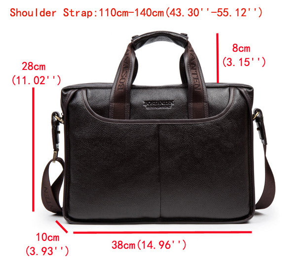 BOSTANTEN Genuine Leather Business Bag Briefcase