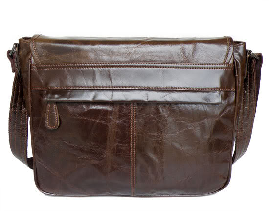 Colombo  Distressed Leather Messenger Bag