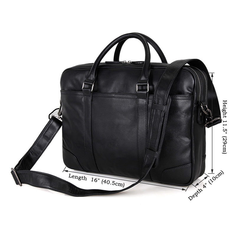 Salisbury Leather Briefcase - Black