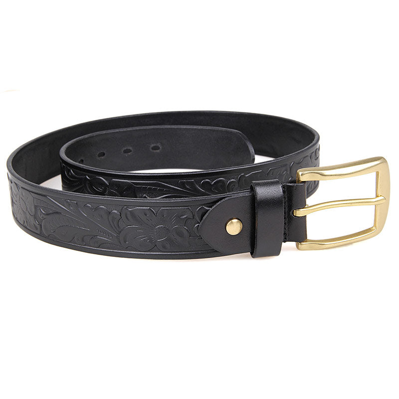Handmade Vegetable Tanned Italian Leather Belt One Size - USLB014A