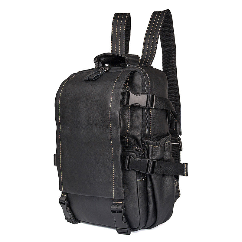 Carnaby Street Leather Medium Backpack, Black
