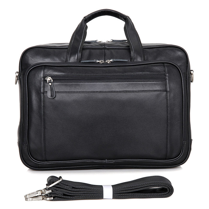 Newbury Double-Zip Leather Business Briefcase 16""