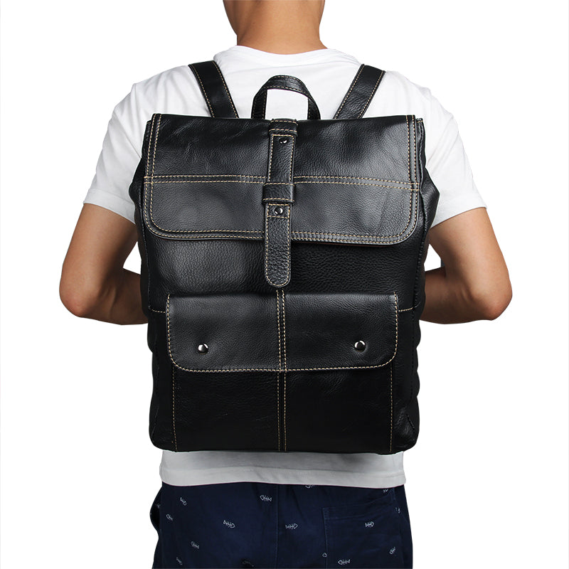 'Oxford' Genuine Leather Backpack