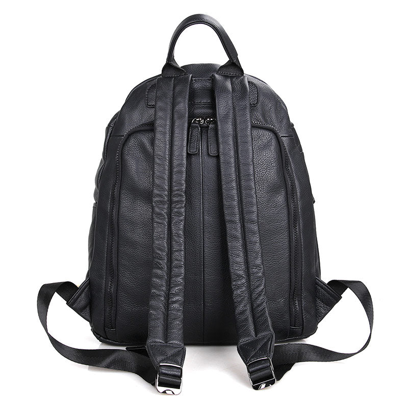 iPack Top Grain Leather Backpack - Black