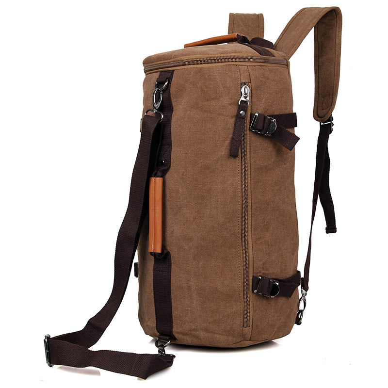 Canvas Universal Cylinder Bag - Brown
