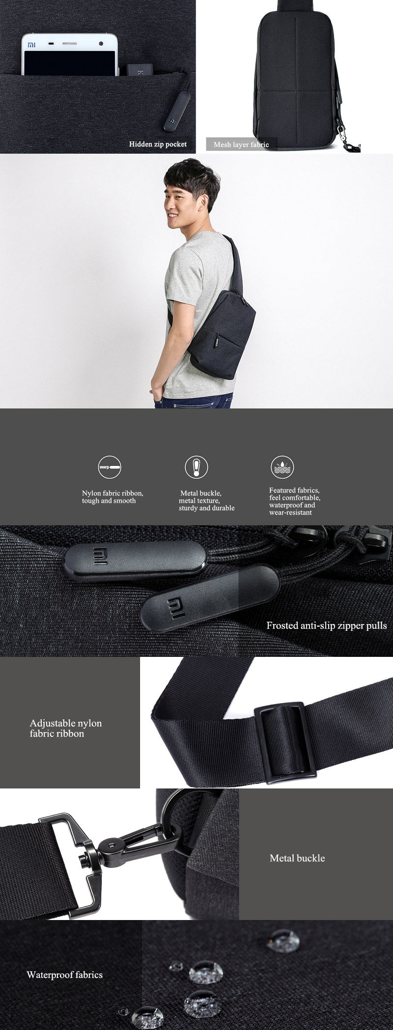 Xiaomi Cross-Body Chest Pack Messenger Bag