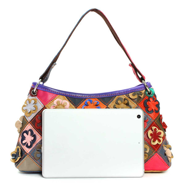 Genuine Leather Paradise Fields Day Bag