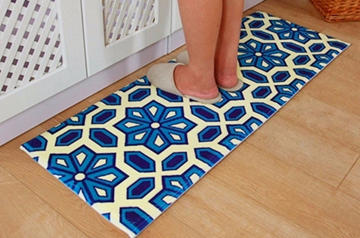 Coral Velvet Floor Mat Absorbent Bath Rug Anti Slip Carpet 120x45cm