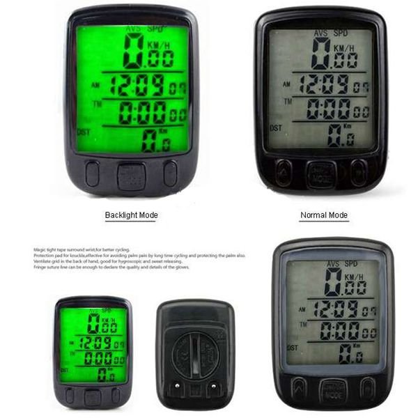 Bicycle Odometer Speedometer with Backlight