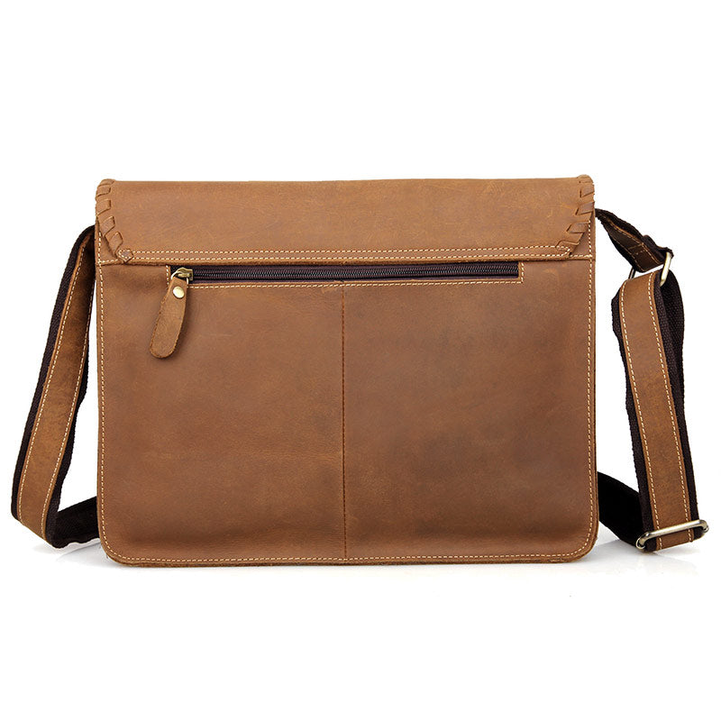 'Grace' Handmade Leather Messenger Bag