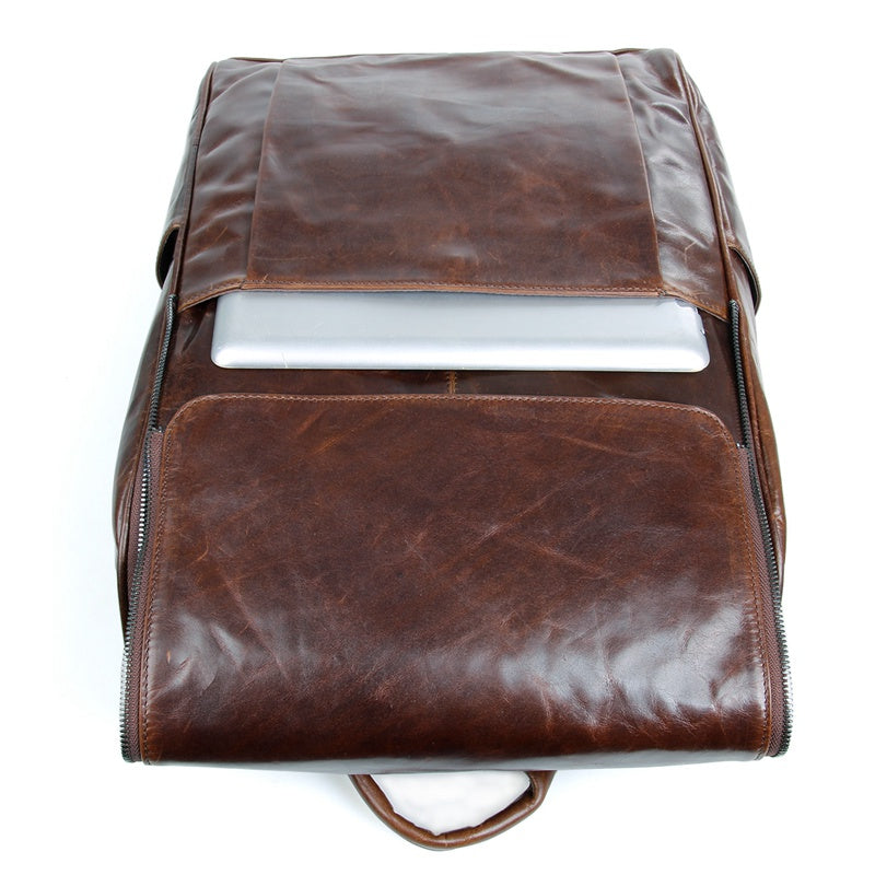 Urban Spirit Leather Backpack - Brown