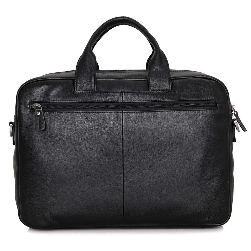 Leather Multi Pocket Business Briefcase