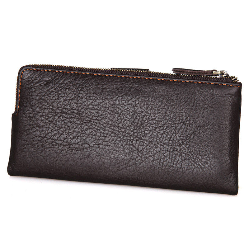 Mens Vintage Coffee Supple Leather Continental Wallet
