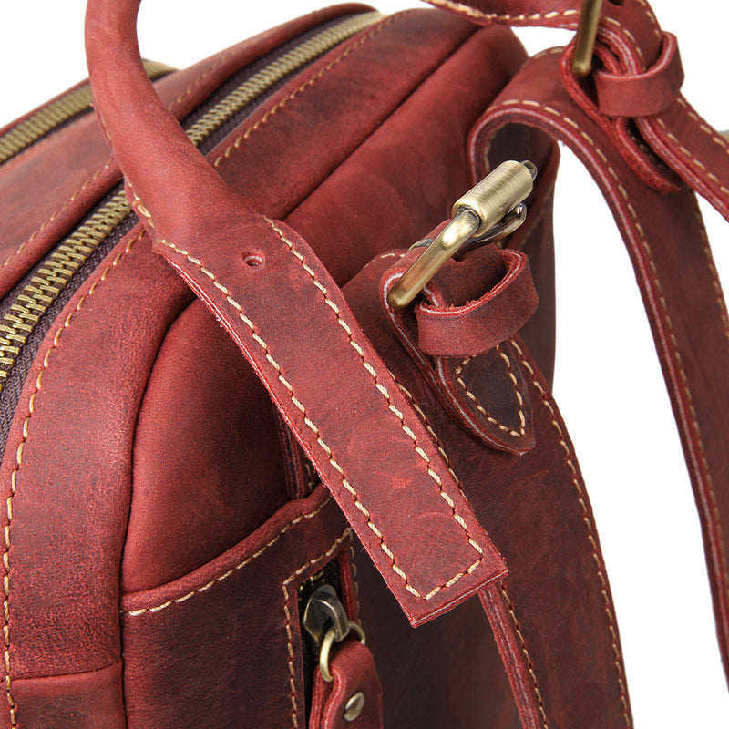 """Selena"" Handmade Leather Backpack Russet"