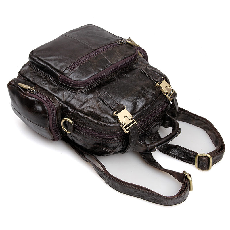 Herald Small Leather Backpack