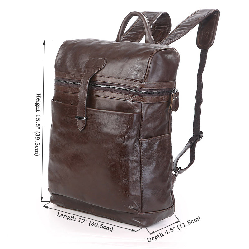 """Chiron"" Handmade Leather Backpack"