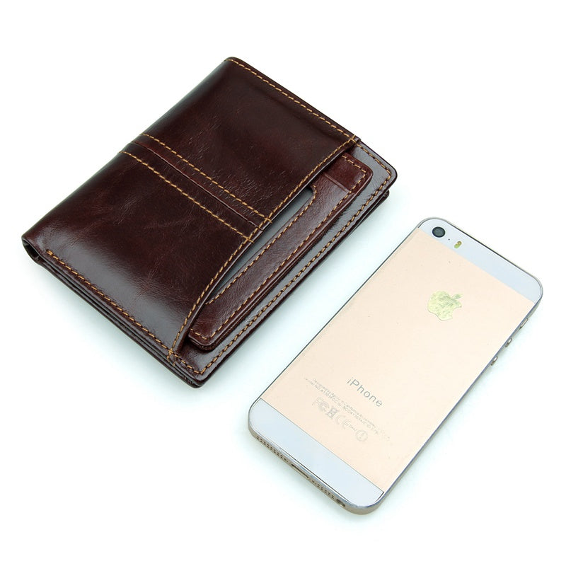 RFID Blocking Leather Wallet with Removable Insert