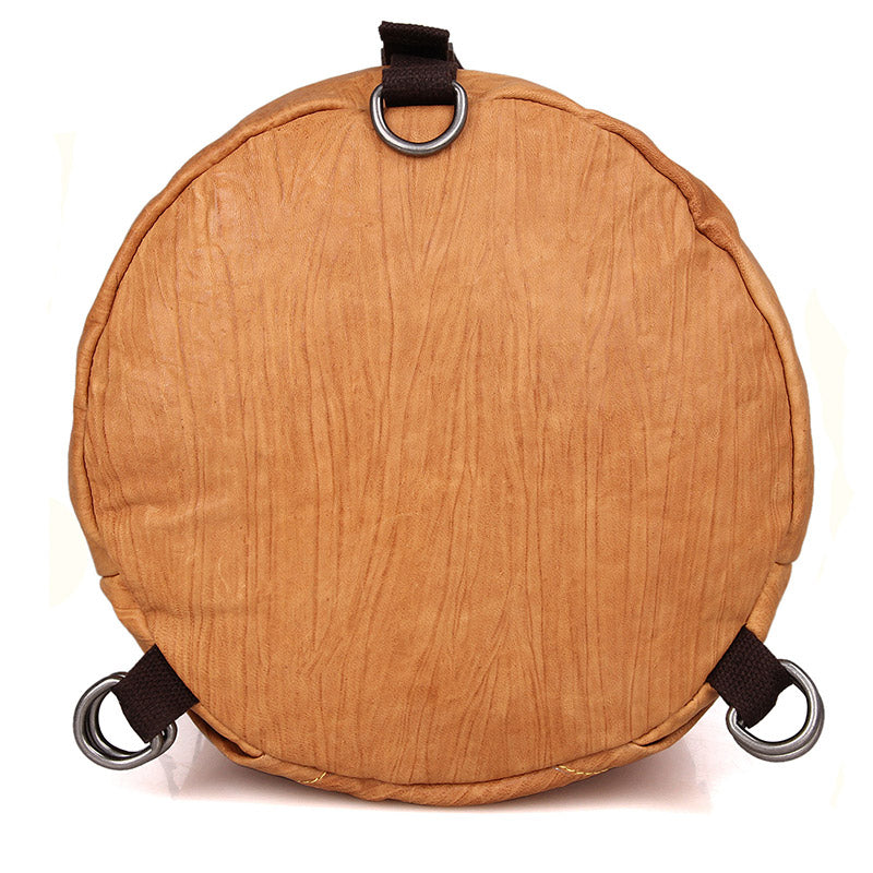 Classic Leather Barrel Shoulder Bag Handbag Backpack