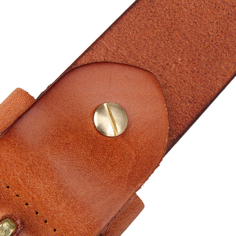 Handmade Vegetable Tanned Italian Leather Belt One Size - USLB016B