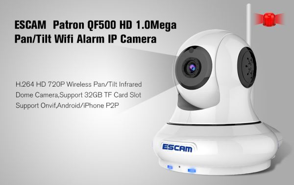 ESCAM Patron QF500 IP camera Home DVR and Home security system