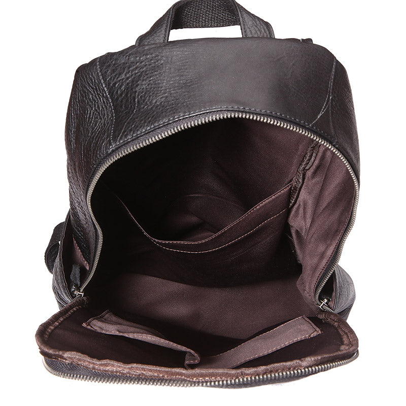 Metropolitan Grained Leather Backpack - Black