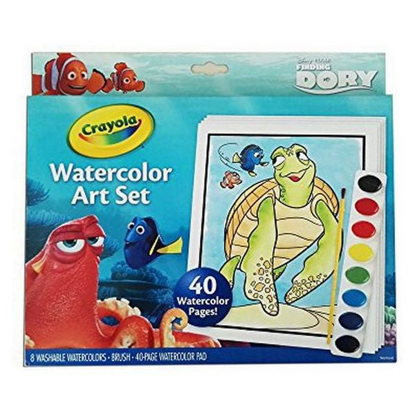 Watercolour paint set Crayola 04-6892-E-000 Dory (48 pcs) (OpenBox)-Universal Store London™