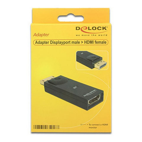 Image of DisplayPort to HDMI Adapter DELOCK 65258 Black-Universal Store London™