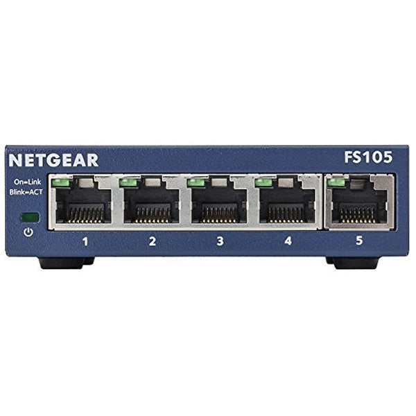 Desktop Switch Netgear ProSafe FS105-300PES 5P Gigabit-Universal Store London™