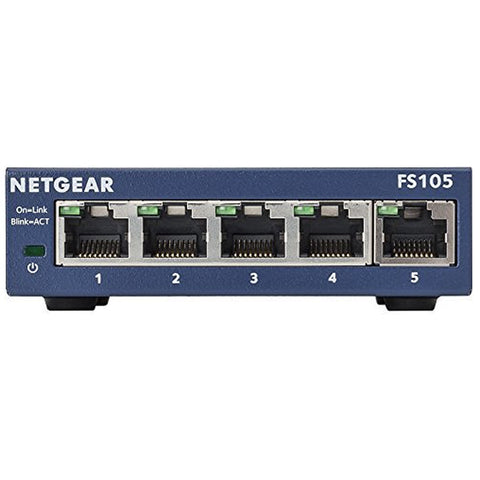 Image of Desktop Switch Netgear ProSafe FS105-300PES 5P Gigabit-Universal Store London™
