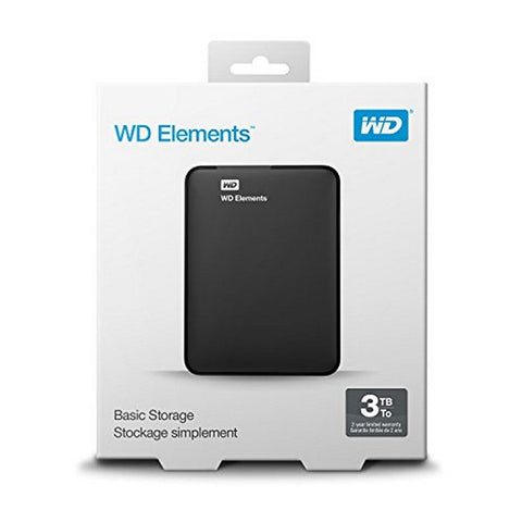 "Image of Hard Drive Western Digital WD Elements Portable WDBU6Y0030BBK-WESN 3 TB 2,5"" USB 3.0-Universal Store London™"