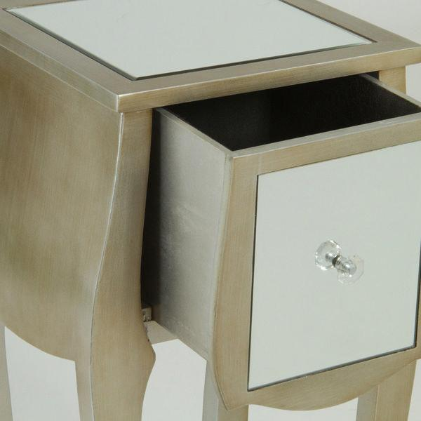 1 drawer champagne table - Radiance Collection by Craften Wood-Universal Store London™