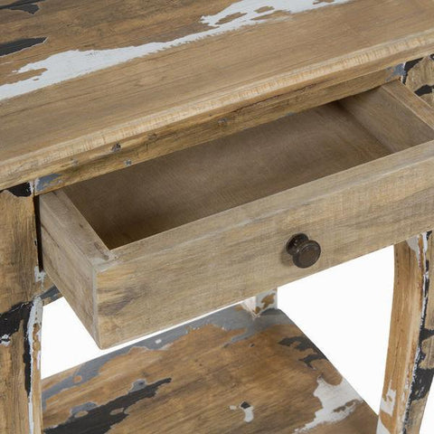 1 drawer table stripped wood - Poetic Collection by Craften Wood-Universal Store London™